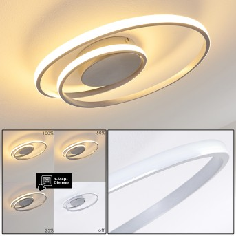 Leksund Lampa Sufitowa LED Srebrny, 1-punktowy