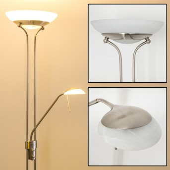 Biot lampa stojąca oświetlająca sufit LED Nikiel matowy, 2-punktowe