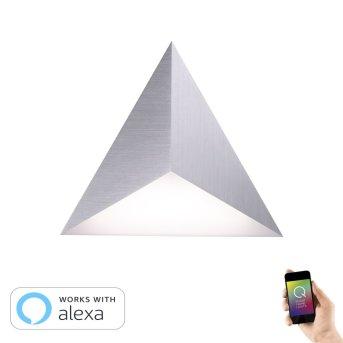 Paul Neuhaus Neuhaus Q-TETRA MASTER Lampa ścienna LED Nikiel matowy, 1-punktowy, Zdalne sterowanie, Zmieniacz kolorów