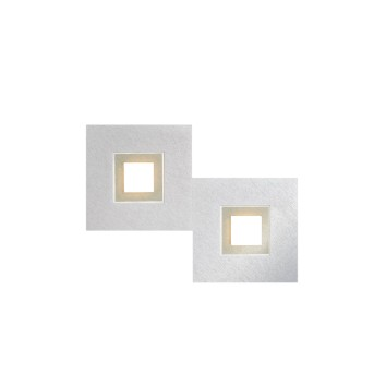 Grossmann KARREE Lampa Sufitowa LED Aluminium, W kolorze szampana, 2-punktowe