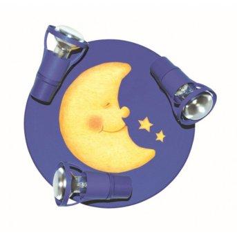 Waldi LaLuna lampa owalna z reflektorkami Niebeieski, 3-punktowe