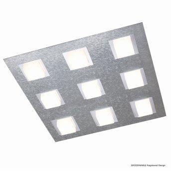 Grossmann BASIC Lampa Sufitowa LED Aluminium, 9-punktowe
