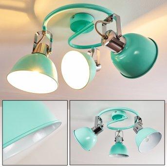 Dompierre Lampa Sufitowa Zielony, Biały, 3-punktowe
