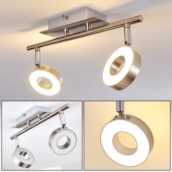 Russell lampy sufitowe listwy LED Nikiel matowy, Chrom, 2-punktowe