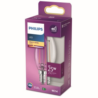 Philips LED E14 2 Watt 2700 Kelvin 250 Lumen