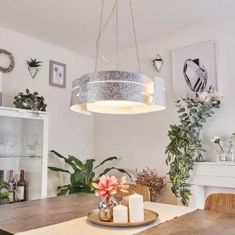 Novara lampa wisząca Srebrny, 3-punktowe