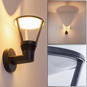 Zewnętrzny kinkiet Stenbjerg LED Czarny, 1-punktowy