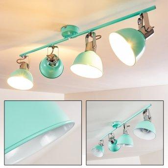 Dompierre Lampa Sufitowa Zielony, Biały, 4-punktowe