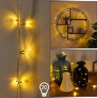Sondrio Łańcuch  świetlny LED Biały, 20-punktowe