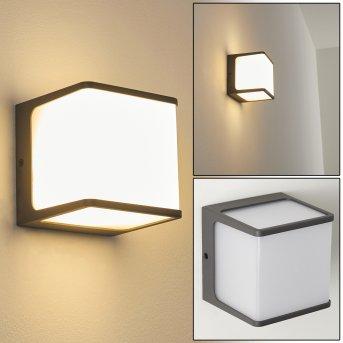 Buckau Zewnętrzny kinkiet LED Antracytowy, Biały, 1-punktowy