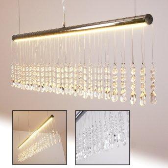 YORK Lampa wisząca LED Chrom, 1-punktowy