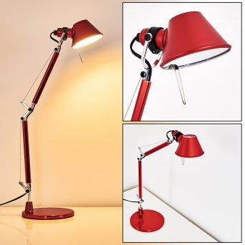 Artemide TOLOMEO MICRO Lampa stołowa Czerwony, 1-punktowy
