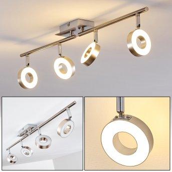 Sarnia lampy sufitowe listwy LED Nikiel matowy, Chrom, 4-punktowe