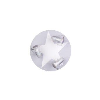 Waldi Stardel Lampa Sufitowa Siwy, Biały, 3-punktowe