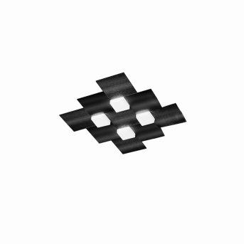 Grossmann CREO Lampa Sufitowa LED Czarny, 4-punktowe