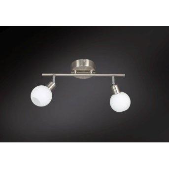 Wofi NOIS lampa sufitowa LED Nikiel matowy, 2-punktowe