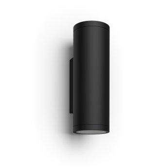 Philips Hue Ambiance White & Color Appear Zewnętrzny kinkiet LED Czarny, 2-punktowe, Zmieniacz kolorów