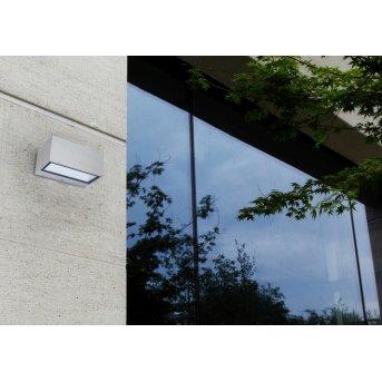 Lutec GEMINI Zewnętrzny kinkiet LED Siwy, Srebrny, 1-punktowy