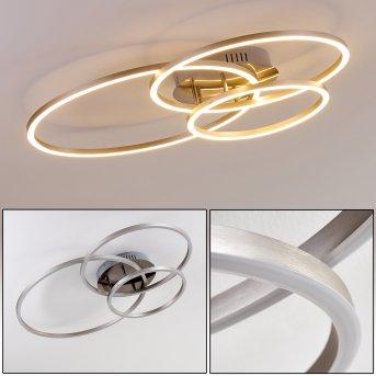 Chilkat Lampa Sufitowa LED Nikiel matowy, 1-punktowy