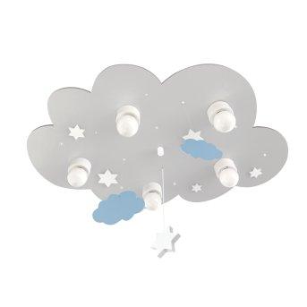 Waldi Cloudi Lampa Sufitowa Siwy, Biały, 5-punktowe