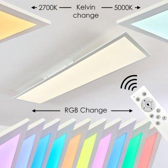 Antria Lampa Sufitowa LED Biały, 1-punktowy, Zdalne sterowanie, Zmieniacz kolorów