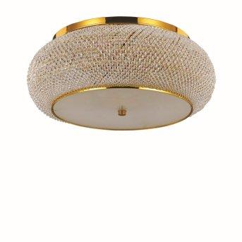 Ideal Lux PASHA Lampa Sufitowa Złoty, Kryształowa, 10-punktowe