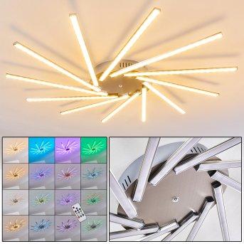 Kinna Lampa Sufitowa LED Stal nierdzewna, 12-punktowe, Zdalne sterowanie, Zmieniacz kolorów