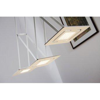 Eva Luz SLIDE lampa wisząca LED Biały, 3-punktowe