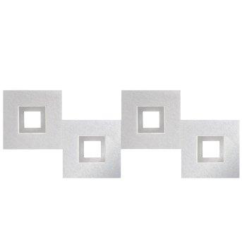 Grossmann KARREE Lampa Sufitowa LED Aluminium, Tytan, 4-punktowe