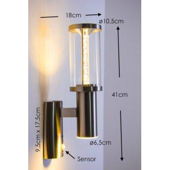 Popoyan zewnętrzny kinkiet LED Stal nierdzewna, 2-punktowe, Czujnik ruchu
