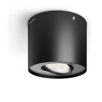 Philips Phase Lampa Sufitowa LED Czarny, 1-punktowy