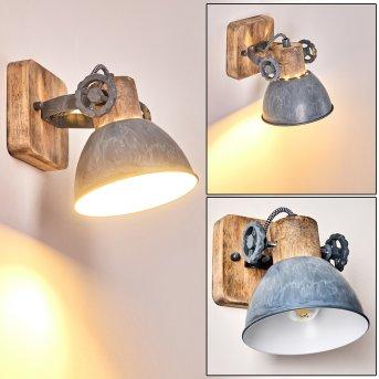 Orny Lampa ścienna Jasne drewno, 1-punktowy