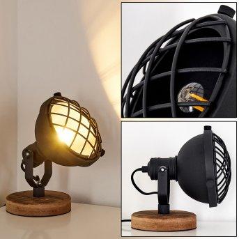 Onsala Lampa stołowa Czarny, Jasne drewno, 1-punktowy