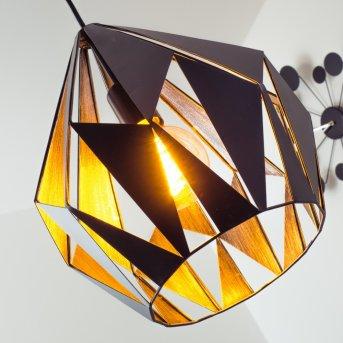Eglo CARLTON 1 lampa wisząca Czarny, Srebrny, 1-punktowy