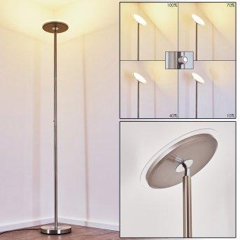 Wonsbek Lampa Stojąca LED Nikiel matowy, 1-punktowy