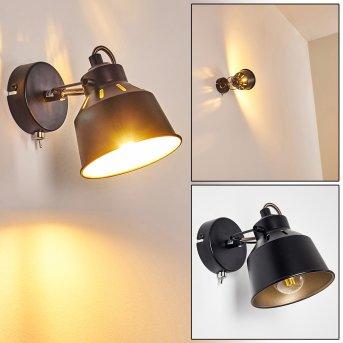 Safari Lampa ścienna Czarny, 1-punktowy