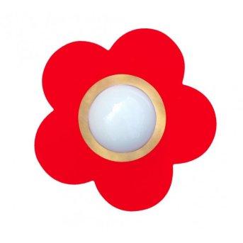 Waldi Fleur petit lampa sufitowa Czerwony, 1-punktowy