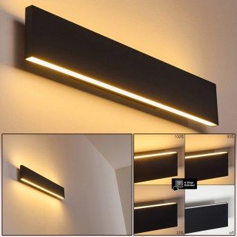 Obion Lampa ścienna LED Czarny, 2-punktowe